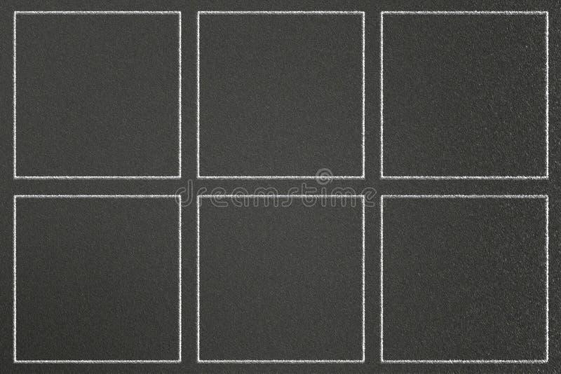 Les cadres de dessin de craie ajustent sur le tableau, peuvent mettre plus de texte illustration de vecteur