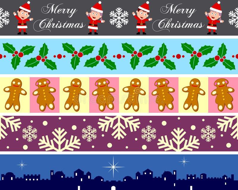 Les cadres de Noël ont placé [4] illustration libre de droits
