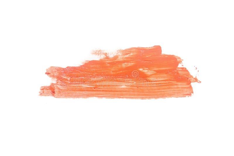 Les calomnies du fard ? paupi?res orange-clair de couleur composent d'isolement sur un fond blanc photo stock