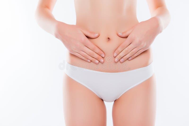 Les calories anorexiques perdent le concept de masse Photo haute étroite cultivée de f images stock
