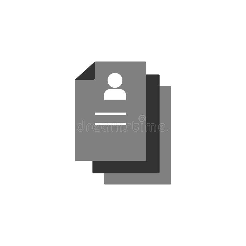les candidats, choisissent l'icône Élément d'icône de commercialisation pour des applis mobiles de concept et de Web Les candidat illustration de vecteur