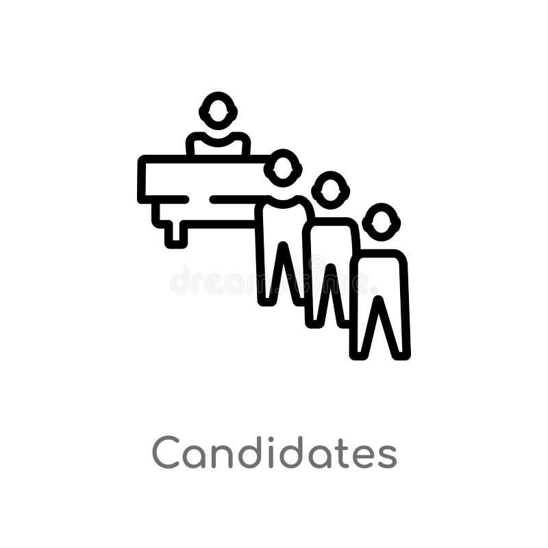 les candidats d'ensemble dirigent l'ic?ne r Vecteur Editable illustration libre de droits
