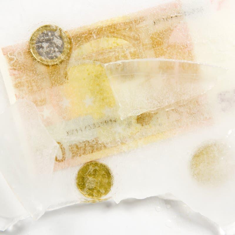 Les capitaux, frosen en glace photographie stock