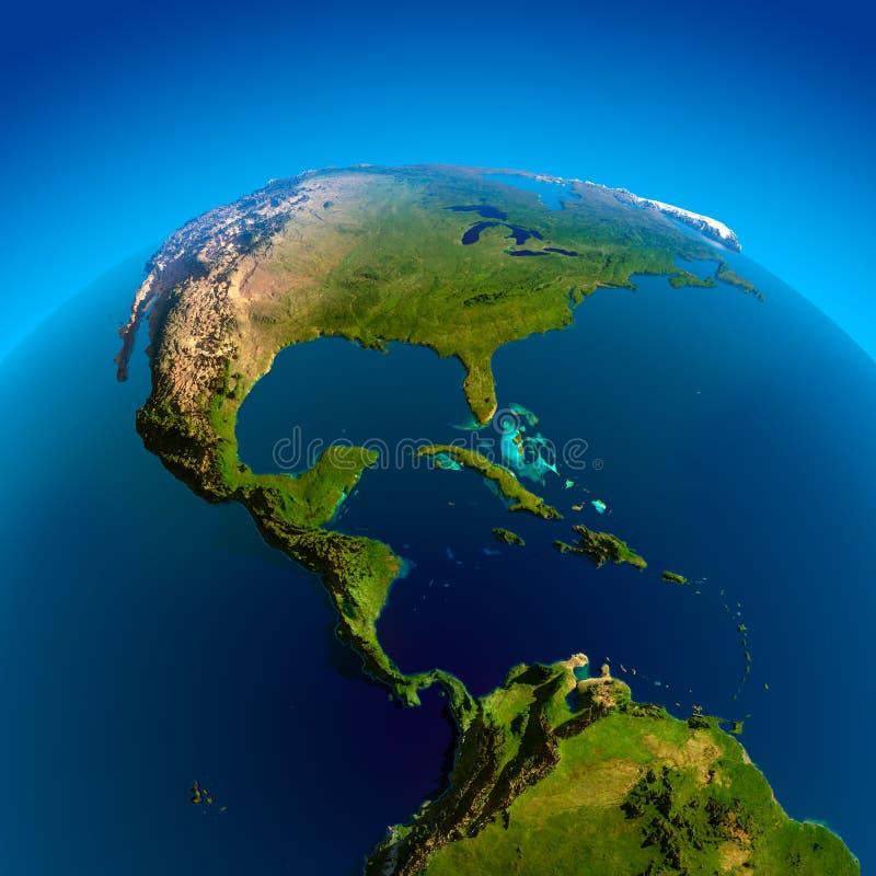 Les Caraïbe, Pacifique et Océan atlantique illustration de vecteur