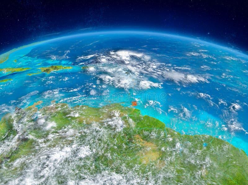 Les Caraïbe sur terre photo stock