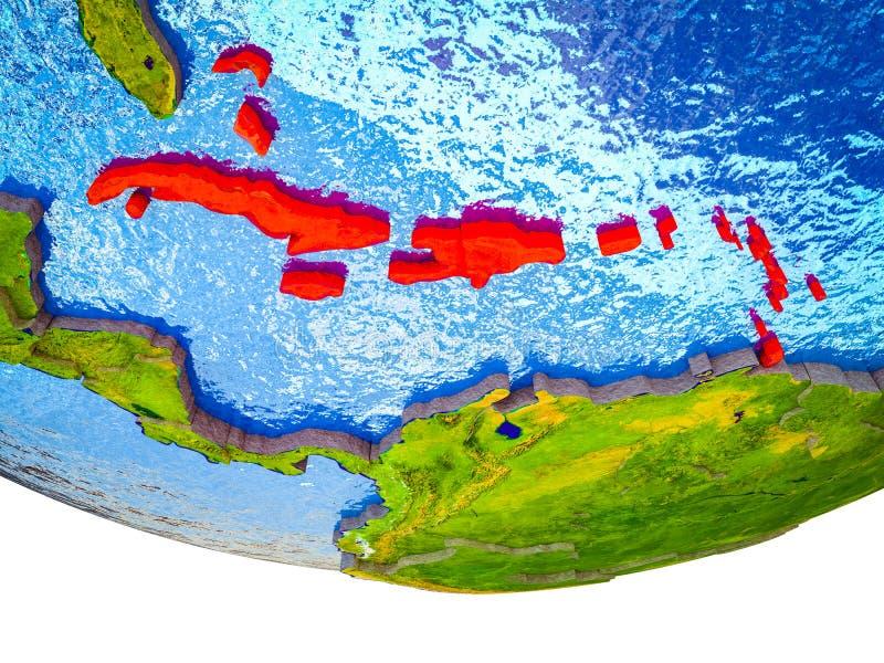 Les Caraïbe sur terre 3D image libre de droits