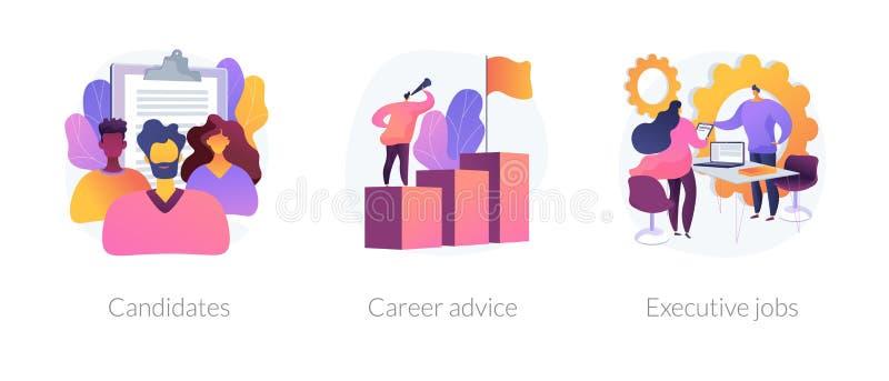 Les carrières dirigent des métaphores de concept illustration stock