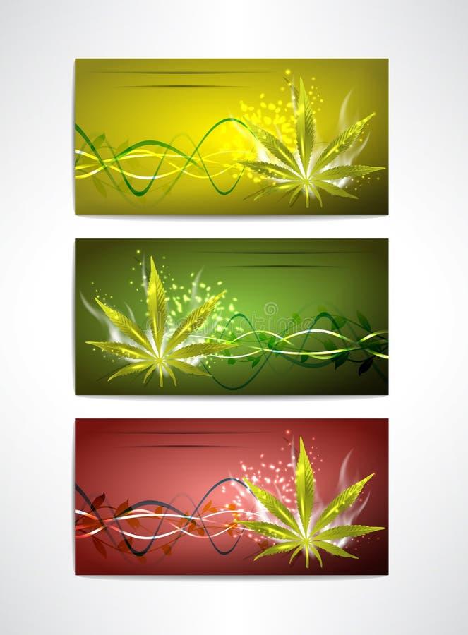 Les cartes en liasse de marijuana illustration de vecteur