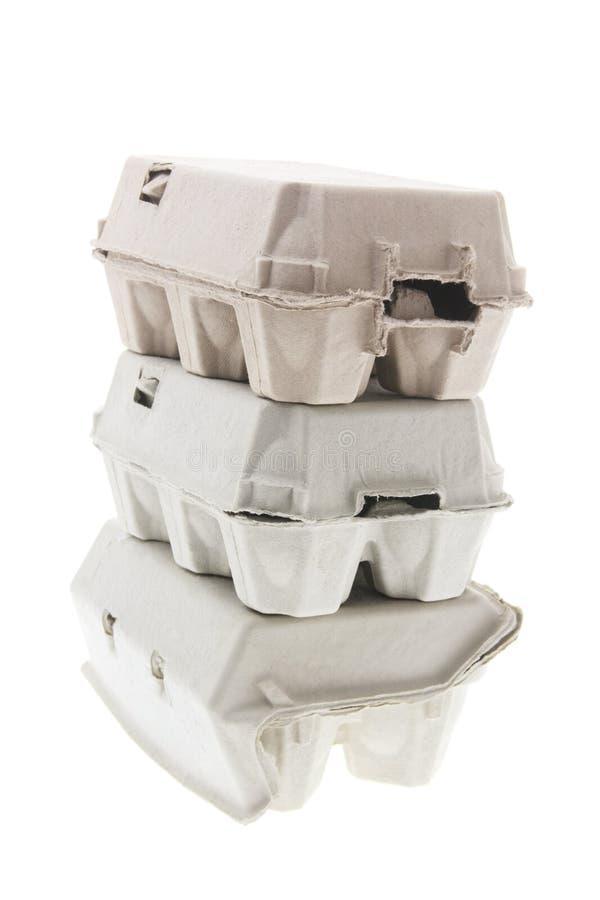 les cartons egg la pile photo stock