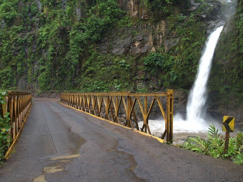 Les cascades à écriture ligne par ligne de Paz de La photo stock