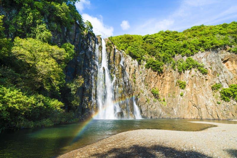 Les cascades de la cascade de Niagara situées dans le nord de la La Reunion Island image libre de droits