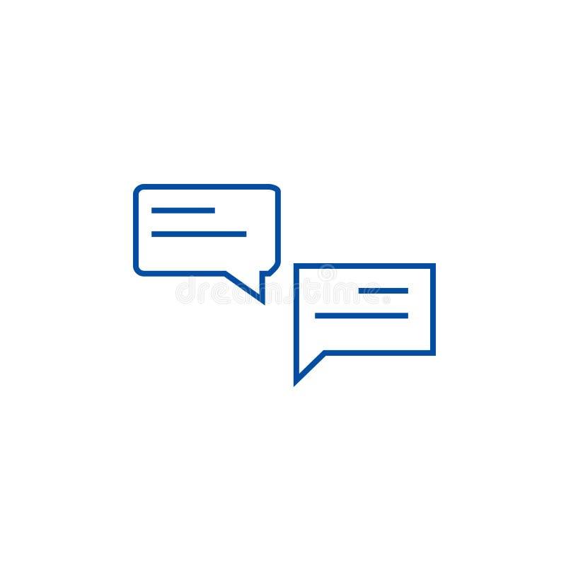 Les causeries rayent le concept d'icône Cause le symbole plat de vecteur, signe, illustration d'ensemble illustration de vecteur