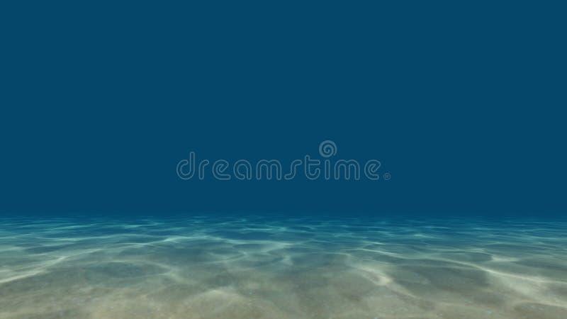 Les caustiques au fond de la mer 3D rendent photos libres de droits