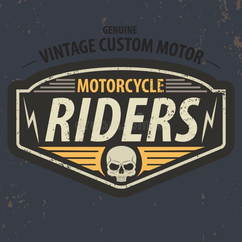 Les cavaliers de vintage typographiques pour le T-shirt conçoivent, graphique de pièce en t, vecteur illustration de vecteur