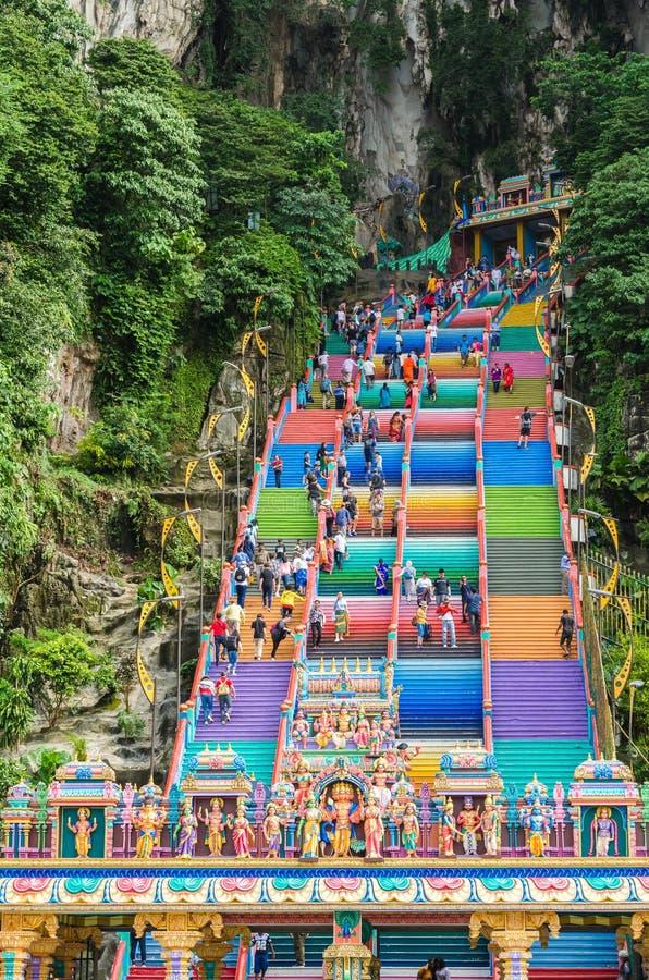 Les cavernes de Batu est une colline de chaux qui a une série de cavernes et de temples de caverne dans Gombak, Malaisie photo libre de droits