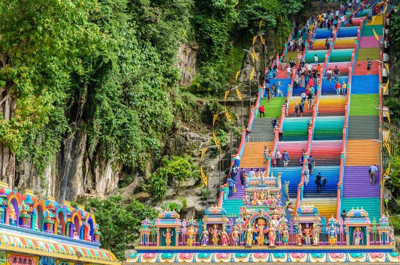 Les cavernes de Batu est une colline de chaux qui a une série de cavernes et de temples de caverne dans Gombak, Malaisie photographie stock libre de droits