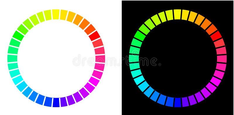 les cercles colorent deux illustration libre de droits