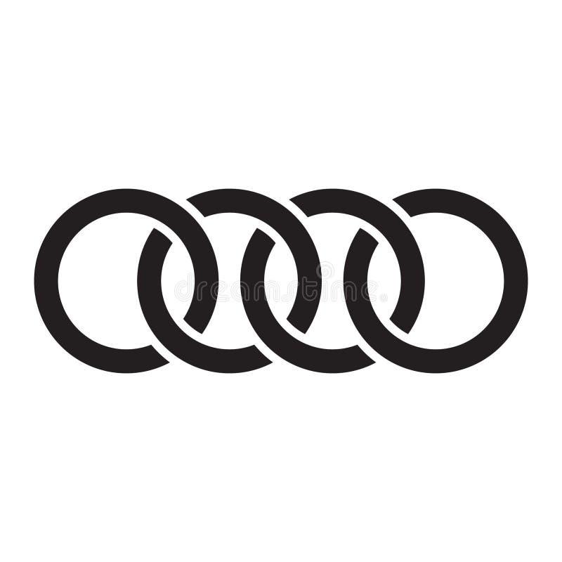 Les cercles de verrouillage, anneaux contournent Cercles, icône de concept d'anneaux illustration libre de droits