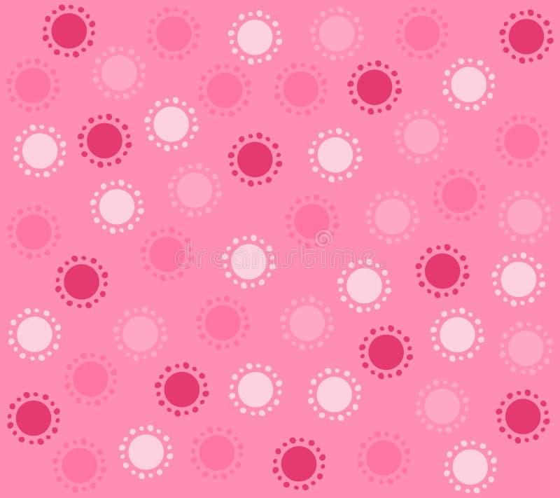 Les cercles roses de source modèlent le fond illustration de vecteur