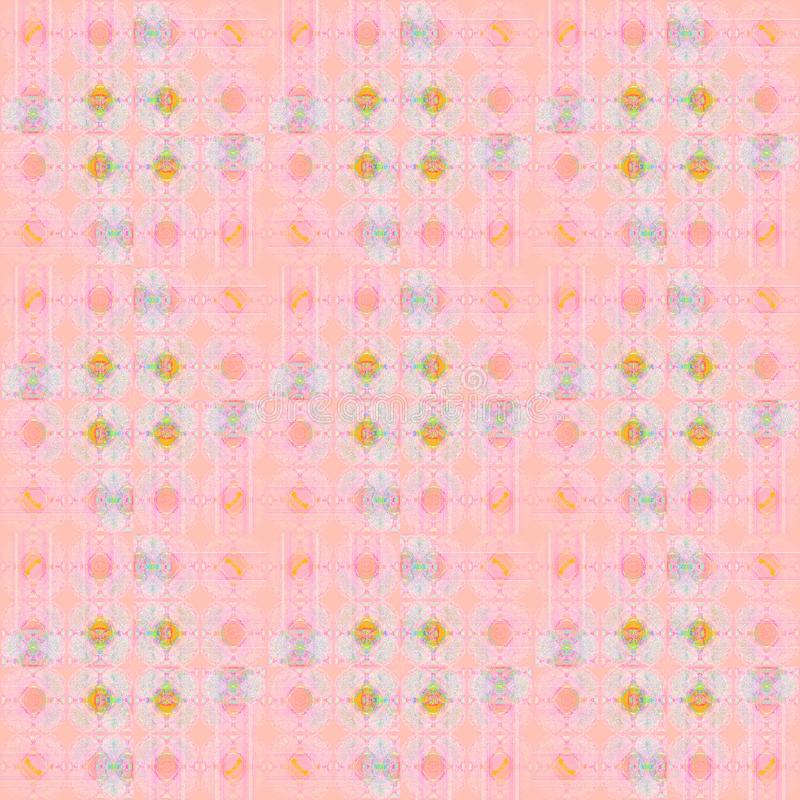 Les cercles sans couture et complexes réguliers modèlent le rose, orange, violet et bleu-clair illustration stock