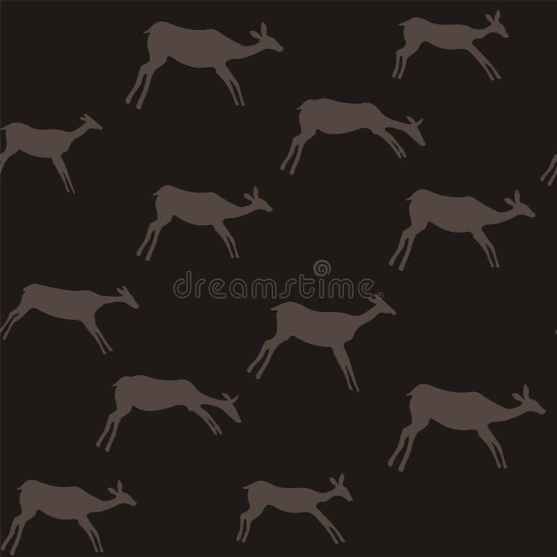 Les cerfs communs modèlent sans couture image stock
