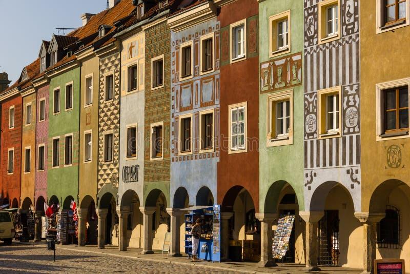 Les Chambres des négociants. Poznan. La Pologne images stock