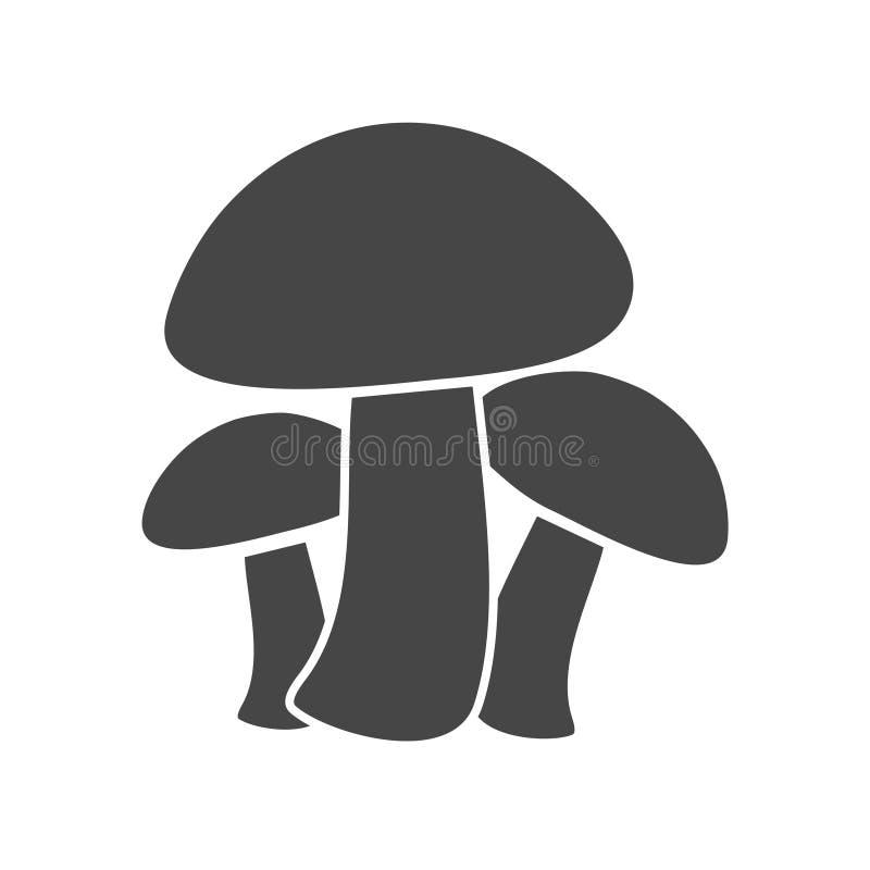 Les champignons dirigent l'ensemble plat d'icônes - illustration illustration stock