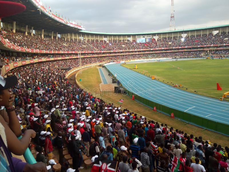 Les championnats du monde U18 d'IAAF au centre de sports international de Moi, Kasarani nairobi image libre de droits