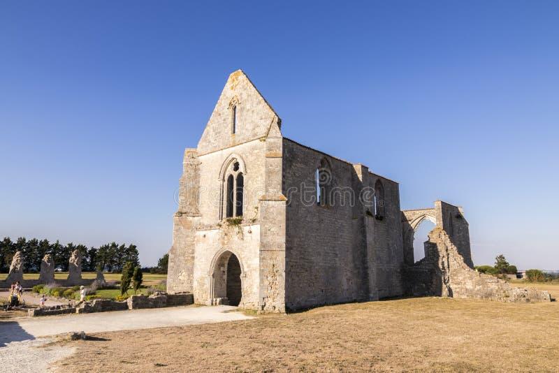 Les Chateliers abbotskloster, Frankrike arkivbild
