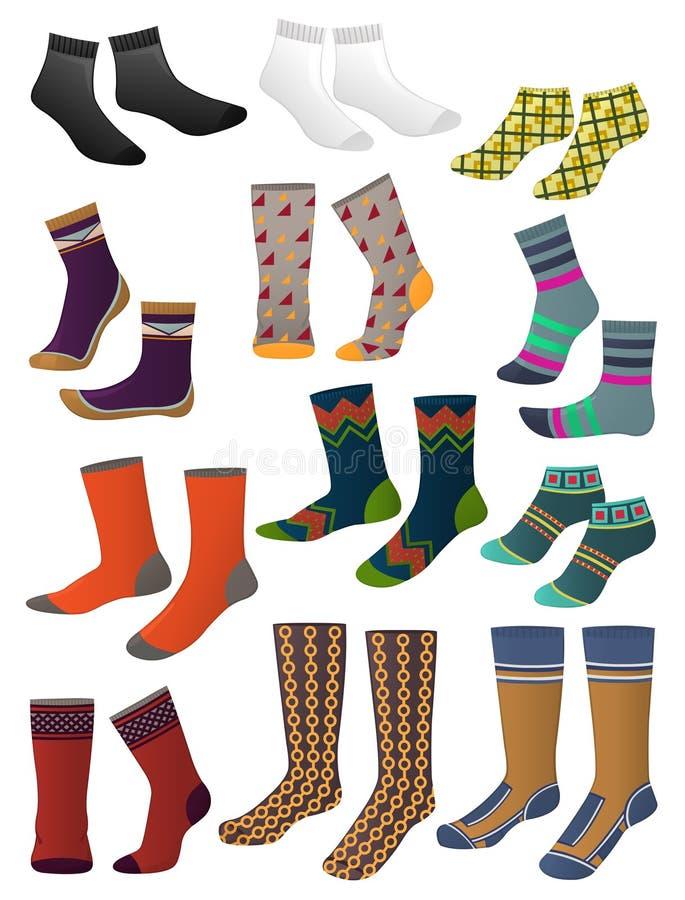 Les chaussettes des hommes illustration de vecteur