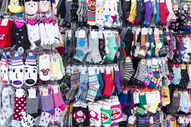Les chaussettes vendent au détail image libre de droits