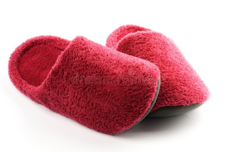 Les chaussons magenta se confondent photographie stock