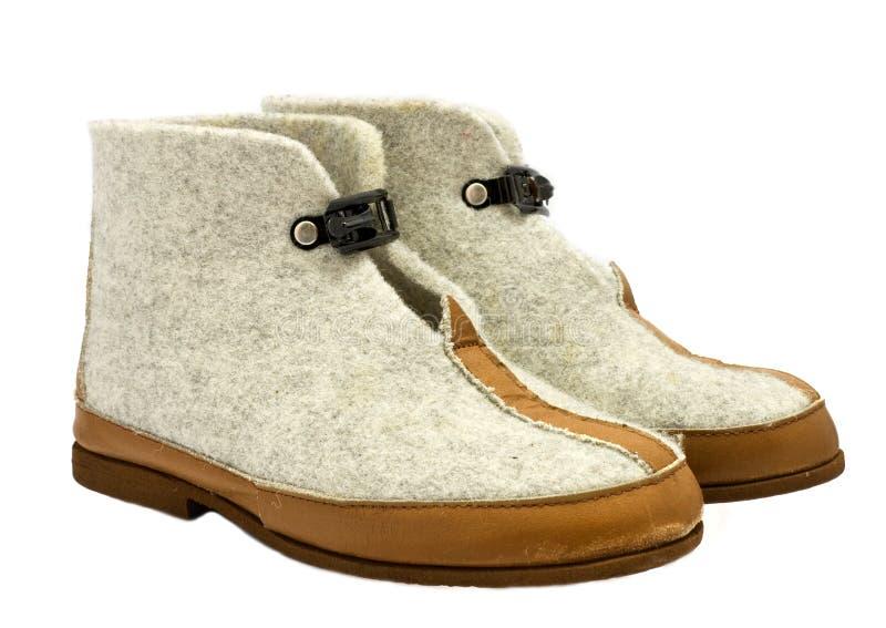 les chaussons réchauffent de laine photographie stock libre de droits