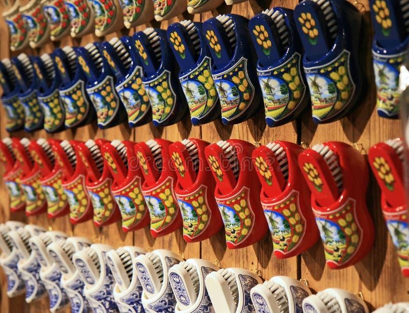 Les chaussures en bois hollandaises célèbres images stock