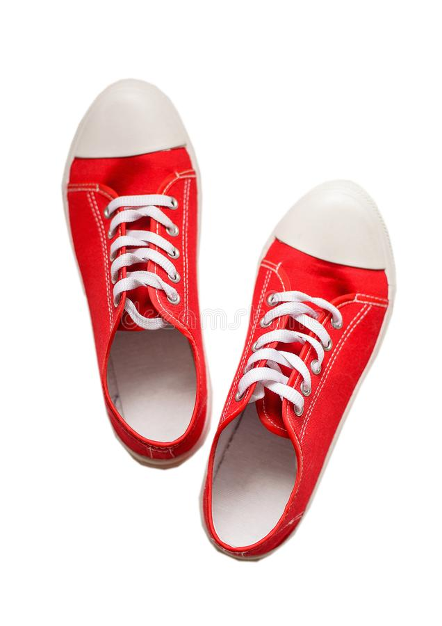Les chaussures modernes ont isolé photographie stock