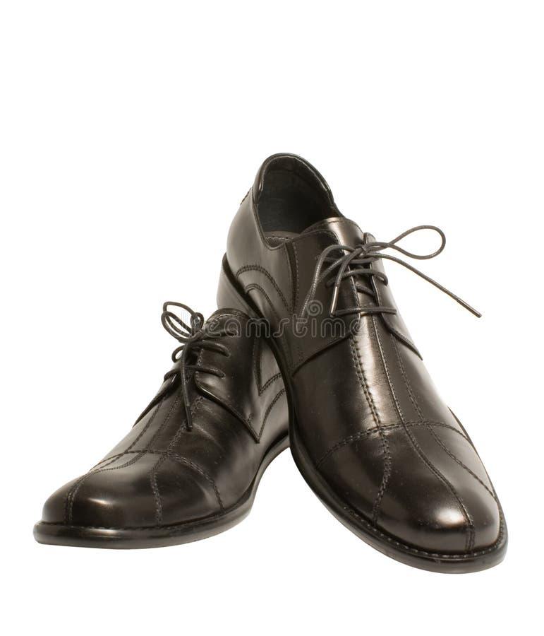 Les chaussures noires de l'homme élégant images stock