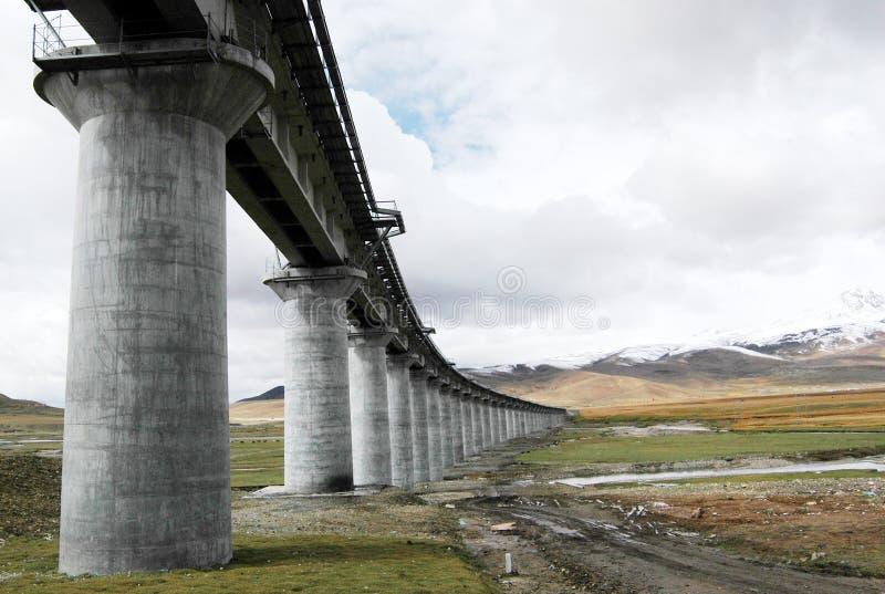 Les chemins de fer tibétains photographie stock libre de droits