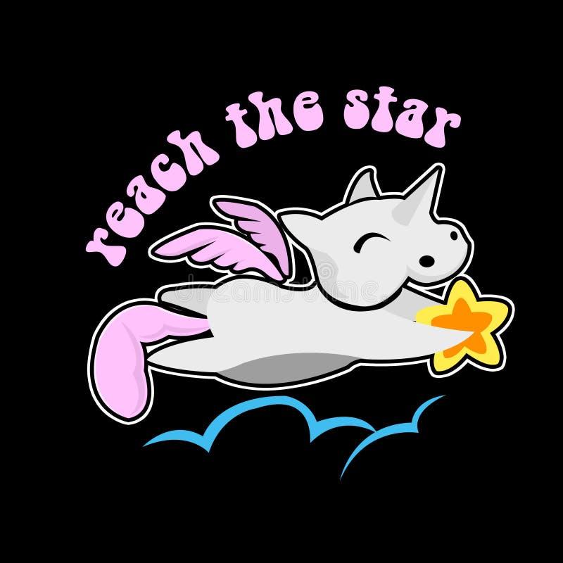 Les chevaux volent pour atteindre l'étoile photos libres de droits