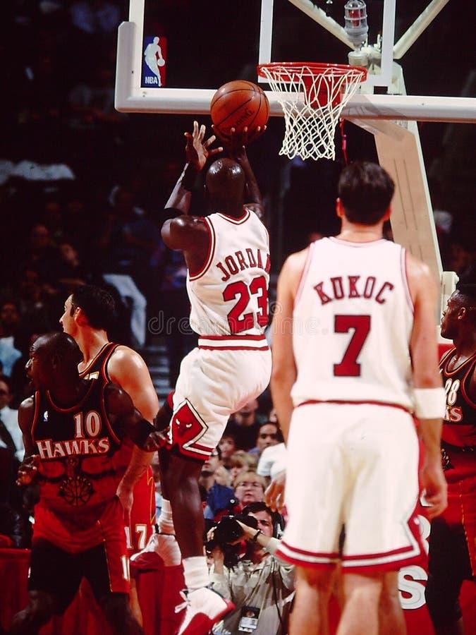 Les Chicago Bulls de Michael Jordan images libres de droits
