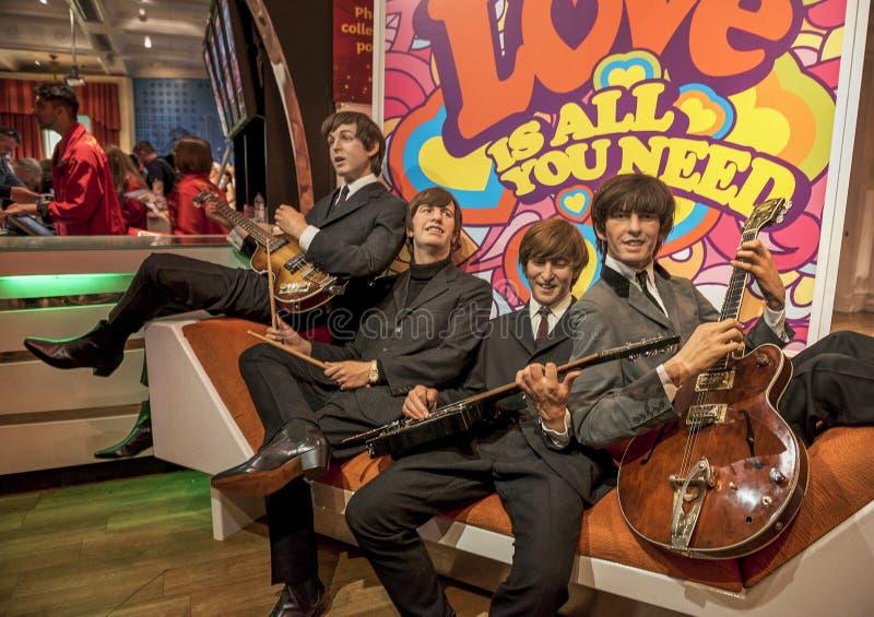 Les chiffres de cire de Beatles photo libre de droits