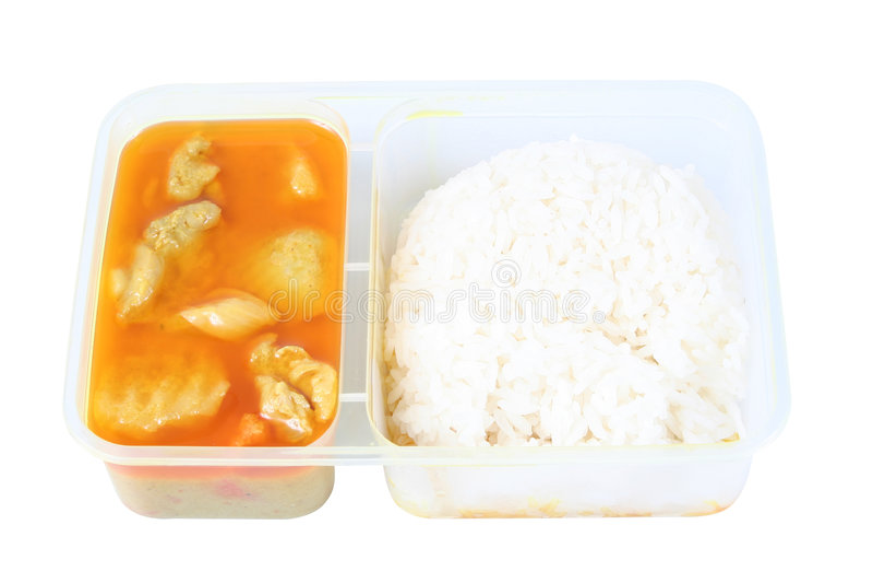 Les Chinois emportent la nourriture 2 photos stock