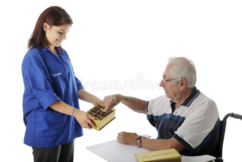 Les chocolats d'un patient photos libres de droits