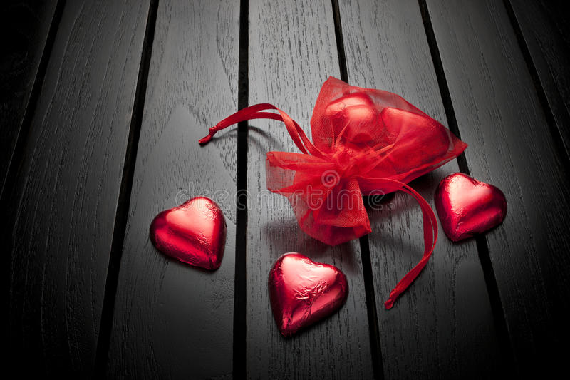 Fond de coeurs de chocolat de jour de Valentines photographie stock