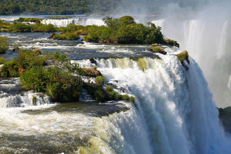 Les chutes d'Iguaçu photo stock