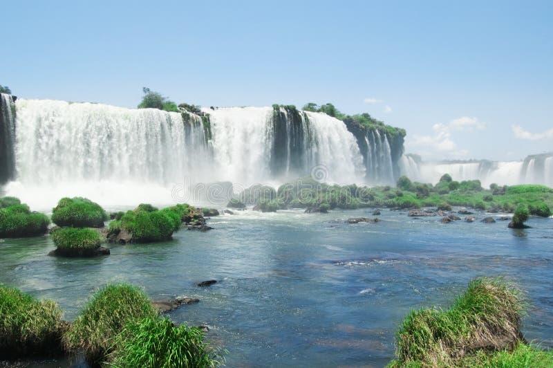 Les chutes d'Iguaçu image libre de droits