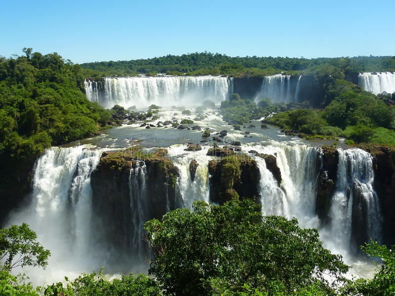 Les chutes d'Iguaçu. photographie stock libre de droits