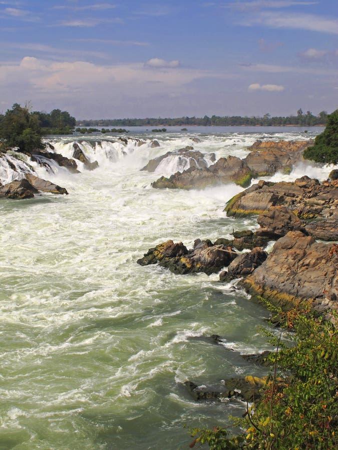 Les chutes de Khone - le Laos photo libre de droits