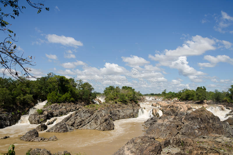 Les chutes du Mékong images stock