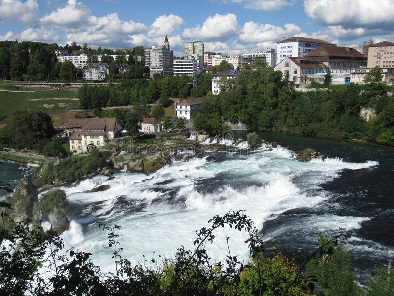 Les chutes du Rhin photos stock