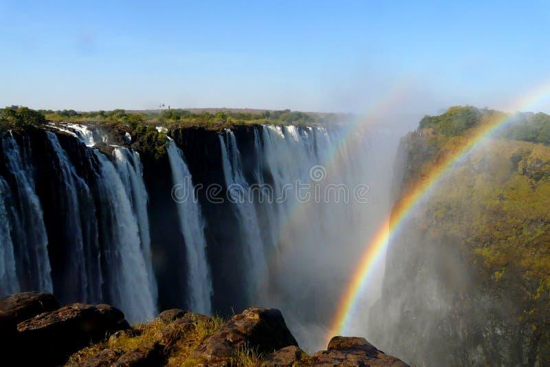 Les chutes Victoria au Zimbabwe images libres de droits